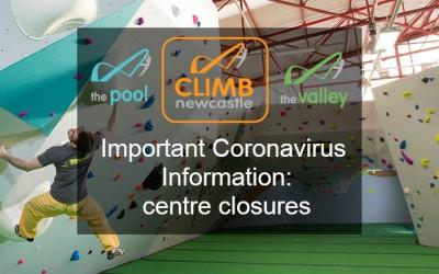 Important Coronavirus Information: Centre Closures